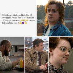 I hate billy.like his dad was aweful to him i pity that maybe he will do a 180 liek steve>>>>> SADNESS AFTER SEASON 3 Stranger Things Actors, Stranger Things Have Happened, Stranger Things Funny, Stranger Things Netflix, Saints Memes, Prince Charmant, Stranger Danger, Hilarious, Funny Memes