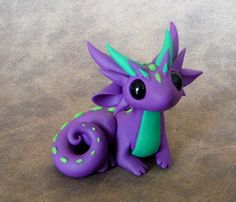 Purple and Green Scrap Dragon by DragonsAndBeasties on Etsy https://www.etsy.com/au/listing/215193616/purple-and-green-scrap-dragon