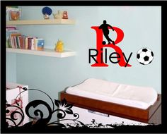 Personalized Name for Soccer Sport - Vinyl Decal via Etsy