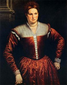 Paris Bordone Portrait of a Woman, Balia dei Medici, Uffizi Gallery, Florence, Italy ca. 1545