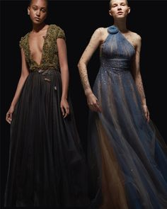 The collection is inspired by a 'Midnight Garden.' A jewel tone palette & layered textured fabrics define the garments - with floral details throughout. Midnight Garden, Reem Acra, Luxury Dress, Jewel Tones, Fashion Dresses, Gowns, Jewels, Couture, Formal Dresses