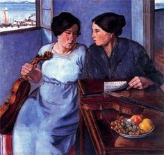 Donne e violini  1925 Albano Vitturi