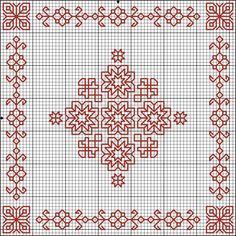 "Blackwork Stars Biscornu Chart  would make a great ""cross stitched"" wall quilt if done in multiple rows"