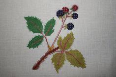 Brombeeren Kreuzstich Leinen Bild Obst Früchte