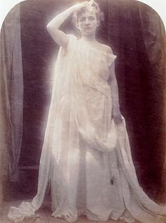 Photograph of posed angelic woman - 1874