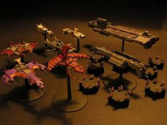 Babylon 5 gaming miniatures by Donn Buerger.