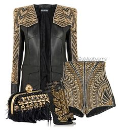 """Untitled #408"" by emsdash ❤ liked on Polyvore featuring Balmain, Alexander McQueen and Giuseppe Zanotti"
