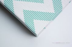 Free Shipping MODERN Baby Book // Teal and Tan by OurStoryPaperCo