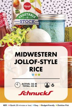 Serve this Nigerian-inspired rice as a side or add cooked meat, fish and/or vegetables to make it the main course. Cajun Seasoning, Vegetable Stock, New Recipes, Cooking Tips, Food Processor Recipes, Side Dishes, Grains, Rice, Vegetarian