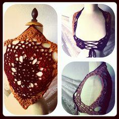 Gypsy crocheted corset vest