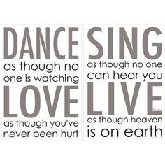 Dance Love Sing Wall Quote - Home D�cor Line Wall Decals