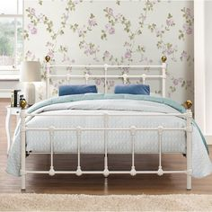 Metal Small Double Bed Frame Cream Steel Headboard Footboard Bedroom Furniture for sale online Headboard And Footboard, Metal Bed Frame, Furniture, Furniture Shop, Bedroom Furniture For Sale, Bed, Guest Room Bed, Bed Frame, Traditional Style Bed