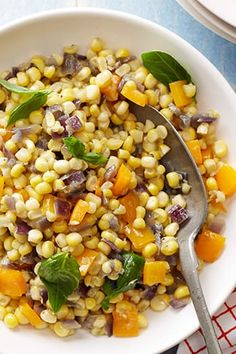 15 Ina Garten Side Dish Recipes That Are Jeffrey-Approved Confetti Corn - Ina Garten - 15 Ina Garten Side Dish Recipes That Are Jeffrey-Approved via Vegetable Sides, Vegetable Side Dishes, Vegetable Recipes, Food Network Recipes, Cooking Recipes, Healthy Recipes, Fresh Corn Recipes, Healthy Food, Side Dish Recipes