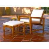 Found it at Wayfair - Amalfi Lounge Chair and Ottoman with Cushions