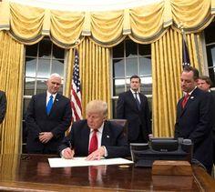 Trump já pôs cortinas douradas na Casa Branca