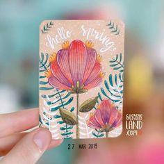 Flowers spring card