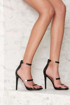 Nasty Gal Fit to Thrill Strappy Heel - Vacation Shop