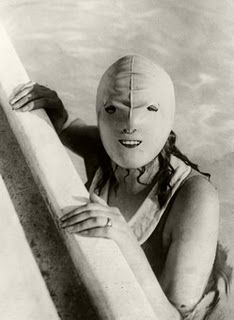 1920's face mask to preserve the perfect complexion.  It was a REAL date-getter.