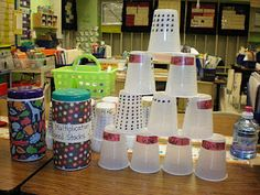 Multiplication cup stacks!