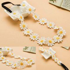 Chic Sunshine Flower Boho Women Girl Elastic Hairband Headband Festival Wedding #Unbranded