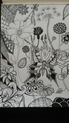 Spring fantasy zentangle drawing by Marieke Raterman. To purchase a print or a smartphone case with this print, visit Monnicken Werken at Facebook : https://m.facebook.com/profile.php?id=878872252171950