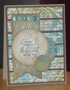 Believe by TheatreDiva - Cards and Paper Crafts at Splitcoaststampers