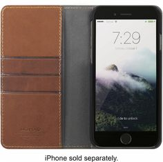 Nomad - Leather Folio Case for Apple® iPhone® 7 Plus - Brown - AlternateView2 Zoom