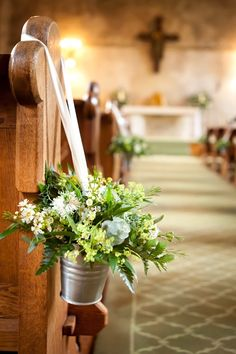 Flowers for the church - by The Flower House