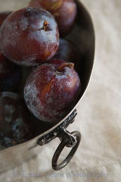 Plums in a baking tin by Laura Adani, via Flickr