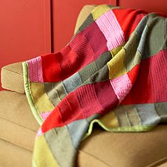 recycled sweater throw how to!