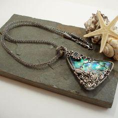 Poseidon - Under The Sea - Paua And Silver Necklace