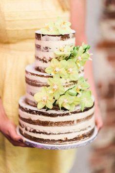 Naked Cake mit Blüten - Tortenmacher
