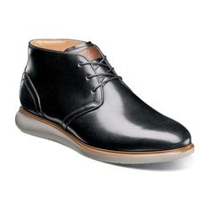 timeless design 9f378 7c5f5 Men s Dress Shoes   Black Plain Toe Chukka Boot   Florsheim Fuel Chukka Boot,  Black