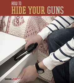 Get tips and tricks on how to hide your guns and firearms. Survival Life is the best source for survival tips, gear and off the grid living. Survival Life, Survival Prepping, Emergency Preparedness, Survival Skills, Survival Gear, Doomsday Survival, Survival Gadgets, Apocalypse Survival, Hidden Gun Storage