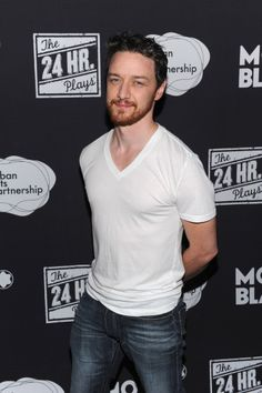 James McAvoy after The 24 Hour Plays in NYC on Nov. 18, 2013.