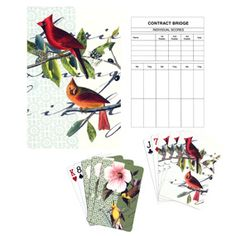 The Met Store -  Audubon Birds Double Deck Playing Cards and Bridge Score Pads