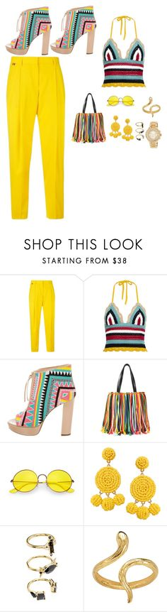 """""""Untitled #530"""" by eliasc ❤ liked on Polyvore featuring Paul Smith, RED Valentino, Jerome C. Rousseau, Emilio Pucci, Ray-Ban, Humble Chic, Noir Jewelry, Madina Visconti di Modrone and MICHAEL Michael Kors"""