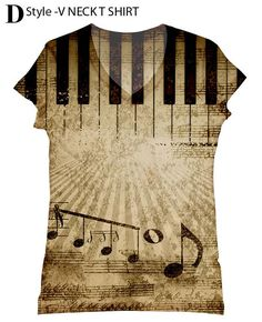 woman Music print top, t shirt and tank(174)