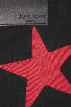 Givenchy - Skinny Jeans In Black And Red Stretch-denim - FR42