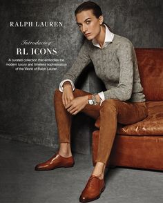 Introducing the RL Icons: a curated collection of Ralph Lauren women's looks that embody modern luxury and timeless sophistication Source by originaltomboy Casual Outfits Tomboy Fashion, Fashion Mode, Work Fashion, Fashion Outfits, Fashion Trends, Androgynous Fashion Women, Geek Chic Fashion, Curvy Fashion, Ralph Lauren Style