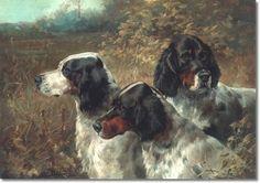 Edmund Henry Osthaus: Three English Setters #gundogs #sporting art #birddogs