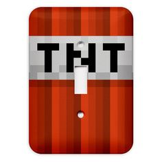 Minecraft TNT Light Switch Plate Cover by Kitty in Pink on Etsy, $8.49 AUD