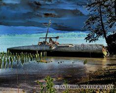 Astoria Photografpix, SM-446, plainview, hydrofoil, scuttled, ship, naselle
