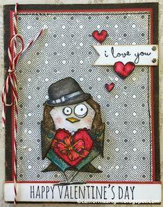 """Richele Christensen: Those crazy birds AKA """"Bird Crazy"""". Cat Cards, Bird Cards, Greeting Cards, Crazy Bird, Crazy Cats, Crazy Animals, Valentine Day Cards, Happy Valentines Day, Tim Holtz Stamps"""