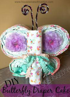 Butterfly Diaper Cake | www.housewivesofriverton.com