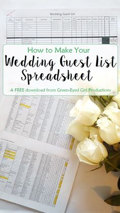 How to Make Your Wedding Guest List Excel Spreadsheet. Free Download and Tutorial from Green-Eyed Girl Productions, Wedding Coordinating weddingorganization http://gelinshop.com/ppost/524669425323184406/