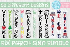 Welcome Signs Front Door, Wooden Welcome Signs, Front Porch Signs, Wooden Signs, Sign Stencils, Wood Pallet Signs, Outdoor Signs, Cricut Creations, Vinyl Projects