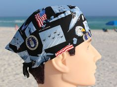 US Air Force Mens Scrub Hat by SharrisCuteCaps on Etsy