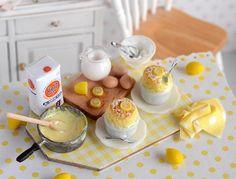 Miniature Lemon Souffle Baking Set by CuteinMiniature on Etsy