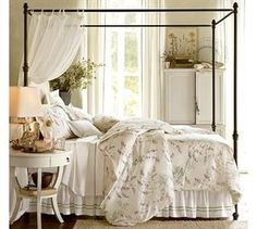 Pottery Barn Antonia Canopy Bed With Metal Frame$1,449.00                Store:                Pottery Barn